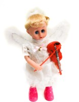ToyTree Angel Princess Musical Doll, Lights And Musical, Violin Playing Action (Pink, White)