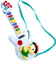 New Pinch Musical Guitar Gift Toy For Kids With Two Modes (Multicolor)