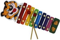 Shopat7 Cute Tiger Handle Xylophone (Multicolor)
