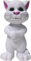 Dolphin Gallery Touch Talking Tom Cat Toy With Recording (White)