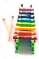 Stuff Jam Colourful & Musical Wooden 8 Hand Knock Animal Xylophone Toy For Kids - 6415 (Multicolor)