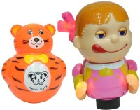New Pinch Musical Naughty Baby Girls With Roly Poly Toy For Kids (Multicolor)