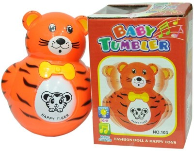 New PInch Music Animal Roly-Poly Toy (Multicolor)