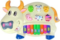 Dienoimpex Musical Cow Piano Keyboard Toy Game (Multicolor)