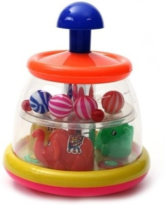 Khanna & Sons Musical Instruments & Toys Khanna & Sons Push N Spin Spinning Elephant