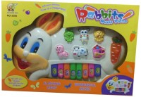 Shop & Shoppee Rabbits Musical Piano For Kids (Multicolor)