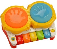 Krypton Mini Drum And Piano Musical Toy (Multicolor)