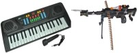 Dinoimpex Phoenix Melody Piano With Mic And Parv Collections Sports Musical Gun (Black) Combo (Multicolor)