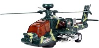 Planet Of Toys Bump & Go Military Toy Helicopter Music Lights (Multicolor)