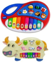 Shop & Shoppee Combo Of Animal Farm & Funny Cow Kids Piano (Multicolor)