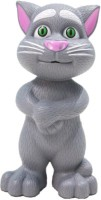 UV Global Intelligent Touch Talking Tom Cat Toy With Recording (Grey, White)
