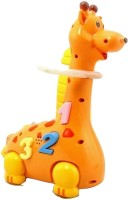 Littlegrin Hula Hoop Bump And Go Giraffe For Kids (Multicolor)