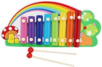 Tootpado Rainbow Animal Wooden Xylophone - Green - 8 Notes - Musical Toys For Kids (Multicolor)