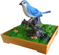 Vaibhav Sound Activated Chirm Wiggly Musical Hanging Heartful Bird Music Toy (Blue)