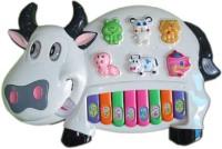 Zaprap Multicolor Plastic Musical Cow Piano For Kids (Multicolor)