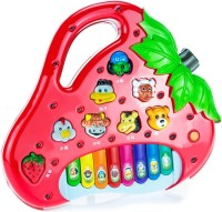 New Pinch Strawberry Shaped Animals Sound Piano For Kids (Multicolor)