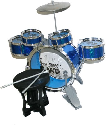 AdraxX Mini Musical Complete Drum Set Multicolor