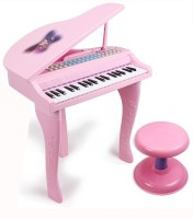 BuddyFun Electronic Symphonic Piano / Key Board Organ – Educational Musical Toy With Mp3 Plug-In Option ,Sing-Along Microphone (Pink)