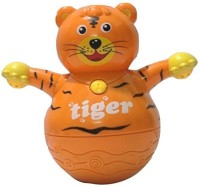 Little Grin Musical Roly Poly Tiger With Projector Lighting Gift Toy For Toddlers Infants Kids ... (Multicolor)