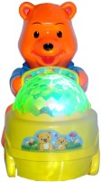 Bandwagon Lucky Bear With 4D Lights & Music Toy For Kids (Orange)
