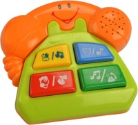 Mee Mee Friendly Telephone - Part Of Four Musical Playthings. (Green)