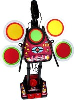 Dinoimpex Fun Electronic Junior Jazz Drum Beat Set With Mp3 Plug-In + Microphone + Pedal Mechanism + Adjustable Heights (Multicolor)