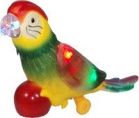 Parteet Funny Electric Parrot With Colourful Lights And Dynamic Music For Kids (Multicolor)