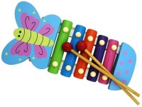 Shopaholic Cute Cartoon Flying Butterfly Xylophone (Multicolor)