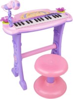 Fantasy India Electronic Symphonic Piano / Key Board Organ – Educational Musical Toy With Mp3 Plug-In Option + Sing-Along Microphone (Pink)