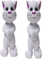 AQUARAS Set Of 2 WHITE TALKING TOM CAT (White)