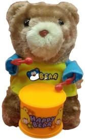 New Pinch Windup Teddy Bear Drummer Sound Toy for Kids