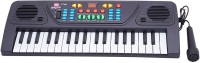 Arvin 37 Keys Musical Electronic Keyboard Organ With Mic Melody Mixing (Black)
