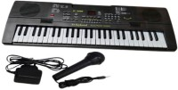 GM Enterprises 54 Keys Electronic And Musical Key Board With Led Display Mic And Adaptor (Black)