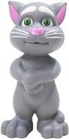 Zaprap Grey Plastic Musical Talking Tom Cat Toy With Recording (Grey)