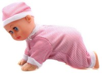 I-Gadgets Cute Crawling Mini Baby Toy With Music And Sound (Pink)