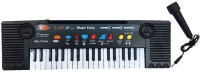 Gm Enterprises 37 Keys Electronic Keyboard Piano With Mic (Black)