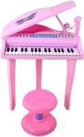BuddyFun Electronic Symphonic Piano With Mp3 Plug-In Option Sing-Along Microphone (Pink)