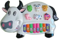Soni Toys Musical Cow Piano Keyboard (Multicolor)