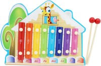 Tootpado Giraffe House Animal Wooden Xylophone - Cream - 8 Notes (Multicolor)