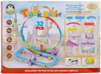Taaza Garam Imported Kids 32 PCS Musical Track Racer Train Set Toy (Multicolor)