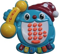 Adraxx Kids Funny EducationalTelephone Set With Number, Graphics, Light And Music (Blue)