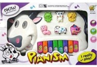 Dinoimpex Musical Cow Piano Keyboard Toy Game (Multicolor)