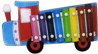 Shopat7 Train Shape Wooden Xylophone (Multicolor)