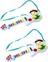 New Pinch Musical Guitar Gift Toy For Kids With Two Modes (Pack Of 2) (Multicolor)