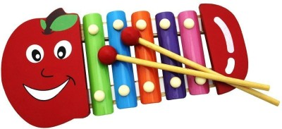 Shopaholic Cute Apple Shape Xylophone (Multicolor)