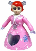 Funny Bunny 3D Dancing Princess Doll Musical Toy Gift For Kids (Multicolor)