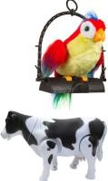 A R ENTERPRISES TALKING PARROT WITH MILK COW (Multicolor)
