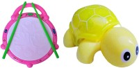 New Pinch Combo Of Flash Drum & Mini Tortoise For Kids (Multicolor)