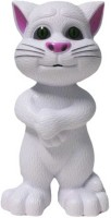 Zaprap White Plastic Musical Talking Tom Cat For Kids (White)