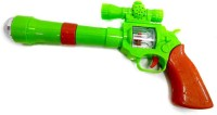 Turban Toys Projection Musical Gun For Kids (Green)